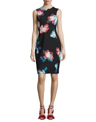 Photo of Flowers Sheath Dress by Calvin Klein - shop Calvin Klein dresses sales