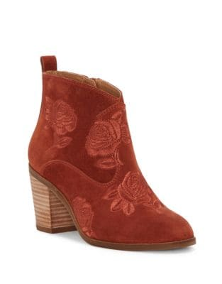 Pexton Embroidered Ankle Boots by Lucky Brand