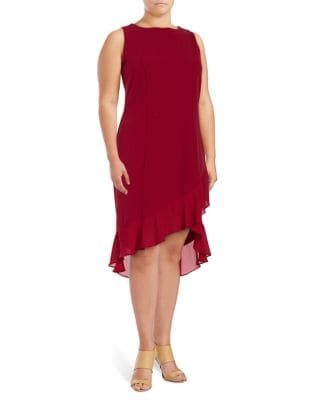 Plus Ruffled Sleeveless Dress by Ivanka Trump