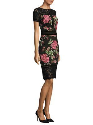 Floral Neoprene Knee-Length Dress by Tadashi Shoji