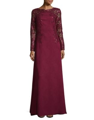 Sequinned Floor-Length Dress by Tadashi Shoji