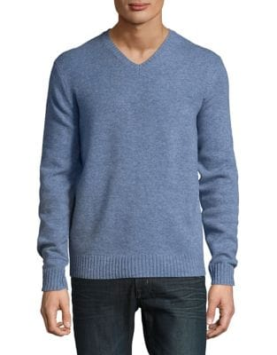V-Neck Lambswool Sweater...