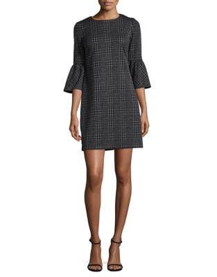 Plaid Knit Sheath Dress by Calvin Klein