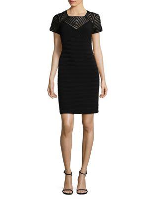 Photo of Pintucked Sheath Dress by Calvin Klein - shop Calvin Klein dresses sales