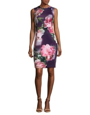 Floral Sheath Dress by Calvin Klein