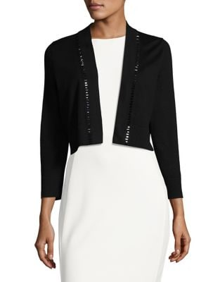 Embellished Cropped Cardigan by Calvin Klein
