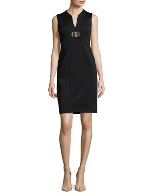 Embellished Sheath Dress by Calvin Klein