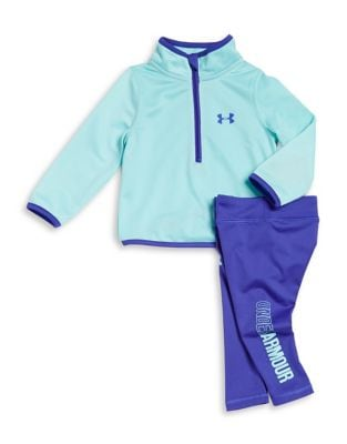 Baby Girls TwoPiece TwoTone Jogger Top and Pants Set