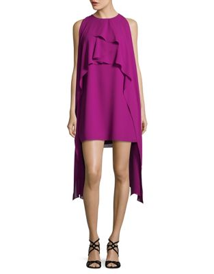 Halterneck Cape Dress by Belle Badgley Mischka