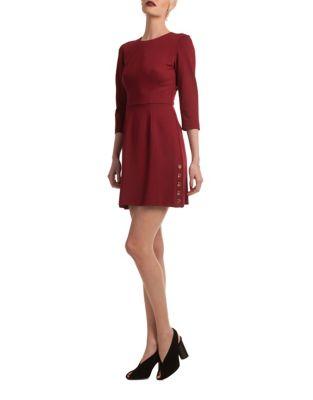 Button Side Mini Dress by Trina Turk