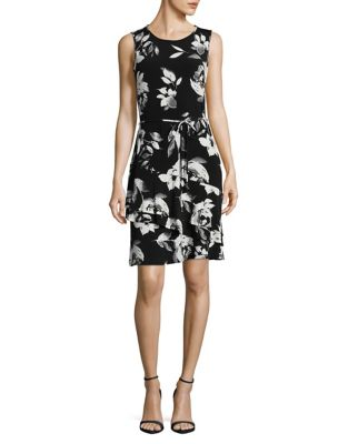 Belted Floral Dress by Ivanka Trump