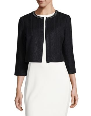 Embellished Tweed Cardigan by Karl Lagerfeld Paris