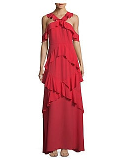 Robe rouge bcbg
