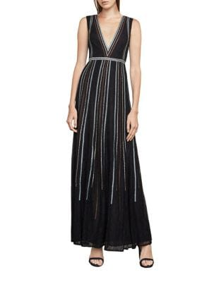 Lace Floor-Length Dress by BCBGMAXAZRIA
