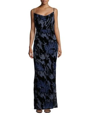 Velvet Burnout Gown by Laundry by Shelli Segal