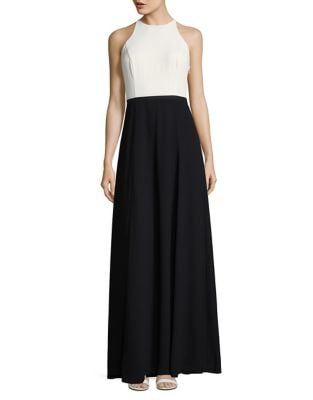 Long Halterneck Dress by H Halston