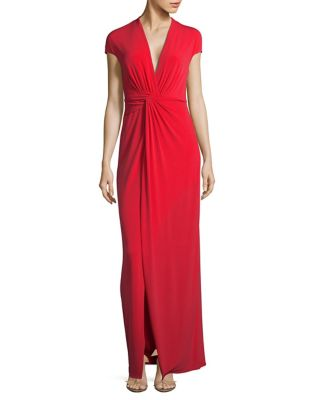 Twist Wrap Dress by H Halston