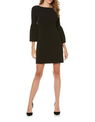 Crepe Shift Bell Sleeve Dress by Laundry by Shelli Segal