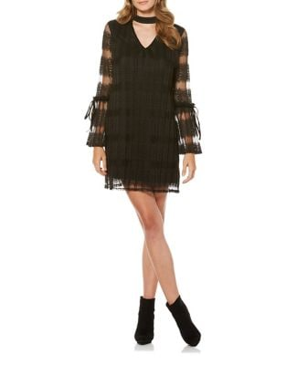 Wide Pleated Choker Dress by Laundry by Shelli Segal