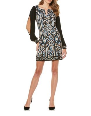 Matte Jersey Printed Shift Dress by Laundry by Shelli Segal