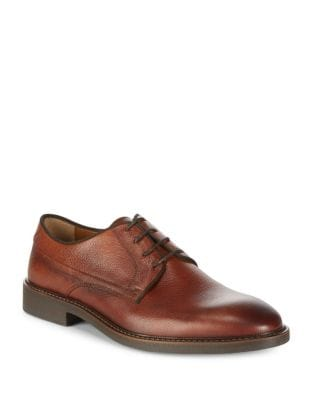 Pebbled Leather Derby...