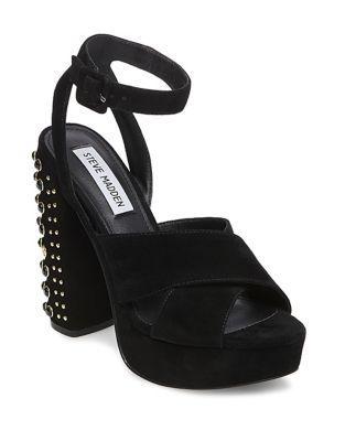 Jodi Block Heel Suede Sandals by Steve Madden