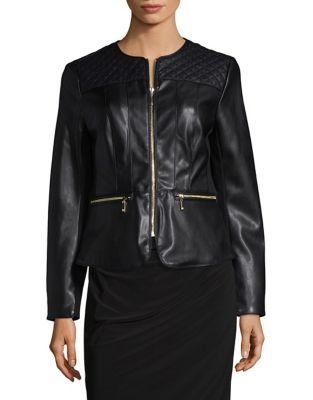 Zip Front Moto Jacket by Ivanka Trump