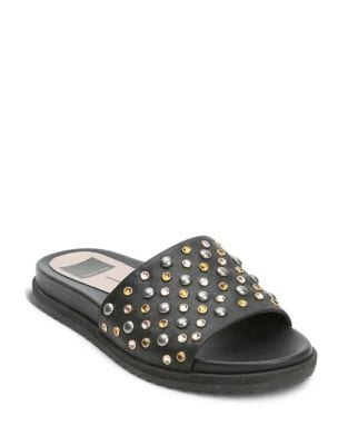 Gia Beaded Leather Slides by Dolce Vita