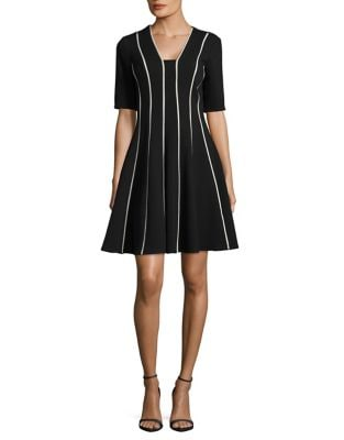 Striped A-Line Dress by Gabby Skye