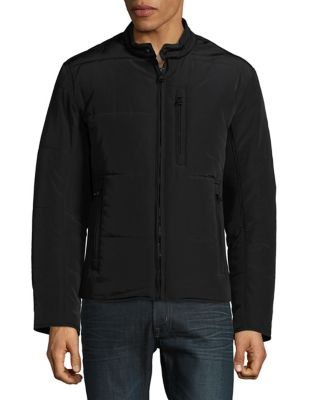 Quilted Moto Jacket @...