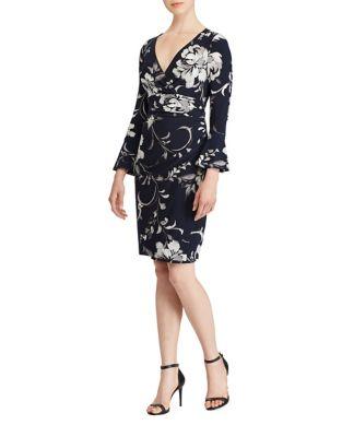 Floral Bell Sleeve Dress by Lauren Ralph Lauren