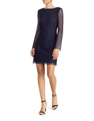 Illusion Lace Shift Dress by Lauren Ralph Lauren
