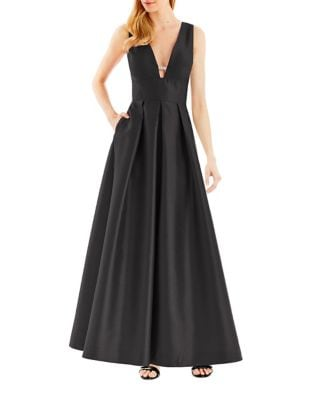 Pleated Fit & Flare Gown by Nicole Miller New York