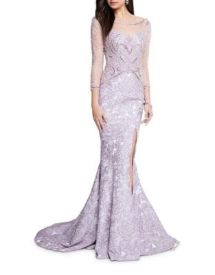 Floral Mermaid Gown by Glamour by Terani Couture