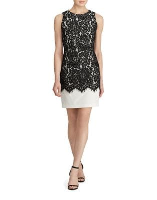 Sleeveless Lace Overlay Sheath Dress by Lauren Ralph Lauren