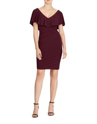 Ruffled Jersey Sheath Dress by Lauren Ralph Lauren