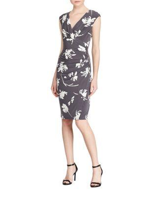 Cap Sleeve Floral Print Sheath Dress by Lauren Ralph Lauren