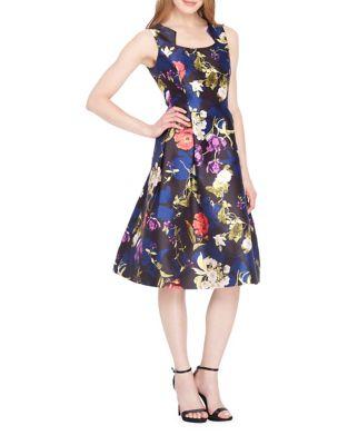 Floral A-Line Dress by Tahari Arthur S. Levine