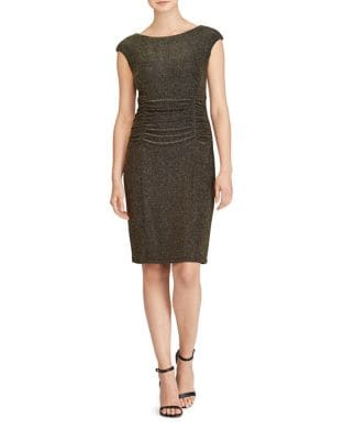 Cap Sleeve Metallic Sheath Dress by Lauren Ralph Lauren