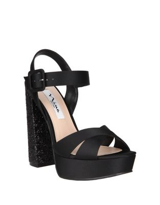 Savita Satin Sandals by Nina