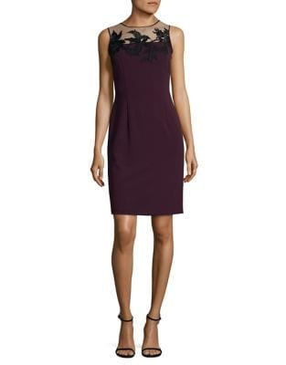 Lace-Trimmed Illusion Dress by Ivanka Trump