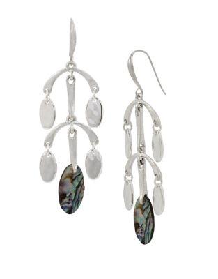 Iridescencece Abalone Chandelier Drop Earrings 500087361158