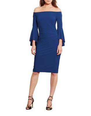 Off-Shoulder Bell-Sleeve Bodycon Dress by Lauren Ralph Lauren