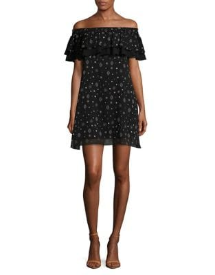 Ruffled Off-the-Shoulder A-Line Dress by Sam Edelman