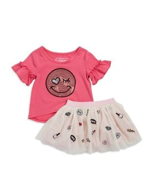Kids Two Piece Blouse  Skirt Set