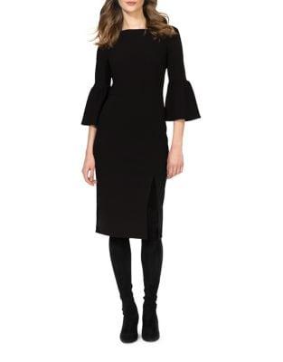 Gabby Bell Sleeve Midi Sheath Dress by Donna Morgan