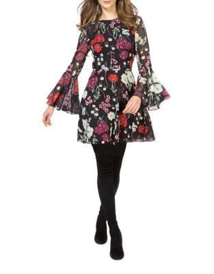 Gabriella Fit & Flare Bell Sleeve Dress by Donna Morgan