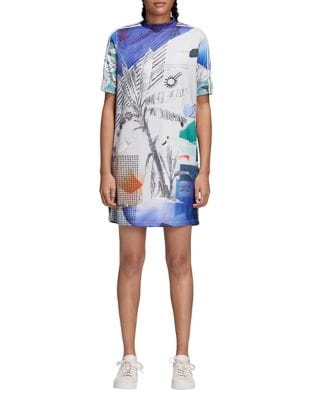 Eclectic-Print Shift Dress 500087368392