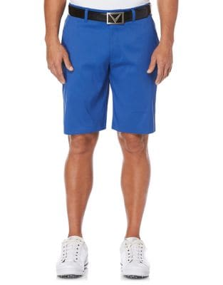 Opti-Stretch Subtle Grid Patterned Golf Shorts with Active Waistband 500087372336