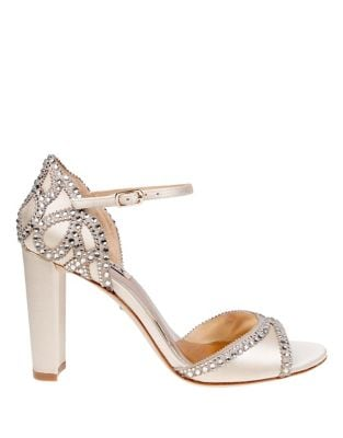 Kelly Satin Ankle-Strap Pumps by Badgley Mischka